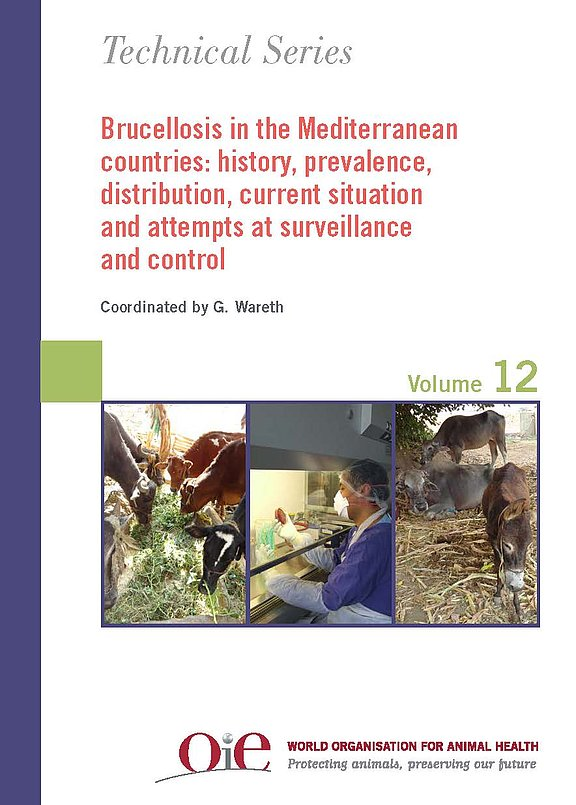 "Cover des Buches ""Brucellosis in the Mediterranean countries: history, prevalence, distribution, current situation and attempts at surveillance and control, Technical Series Vol. 12"""